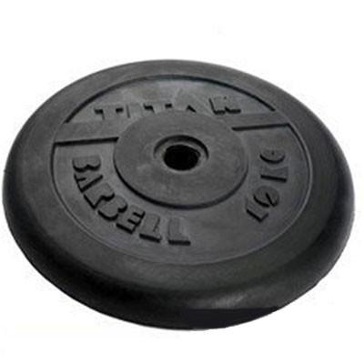Блин обрезиненный TITAN Barbell 10 кг (d26)